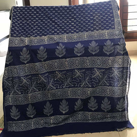 Blue Cotton Saree