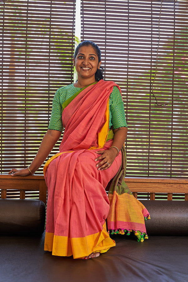 Khadi Cotton Saree - Indianloom