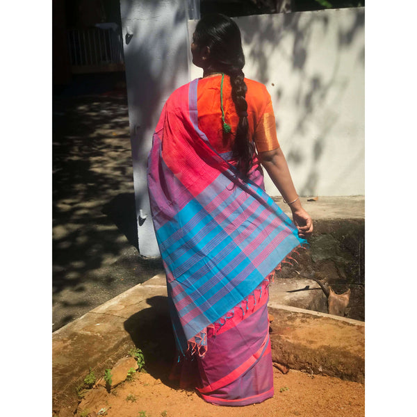 Mangalgiri Pure Cotton Saree - Indianloom