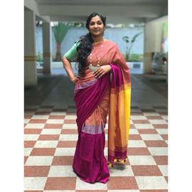 Multi Color Soft Cotton by Khadi Saree
