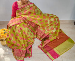 Kota Soft Silk Saree - Indianloom