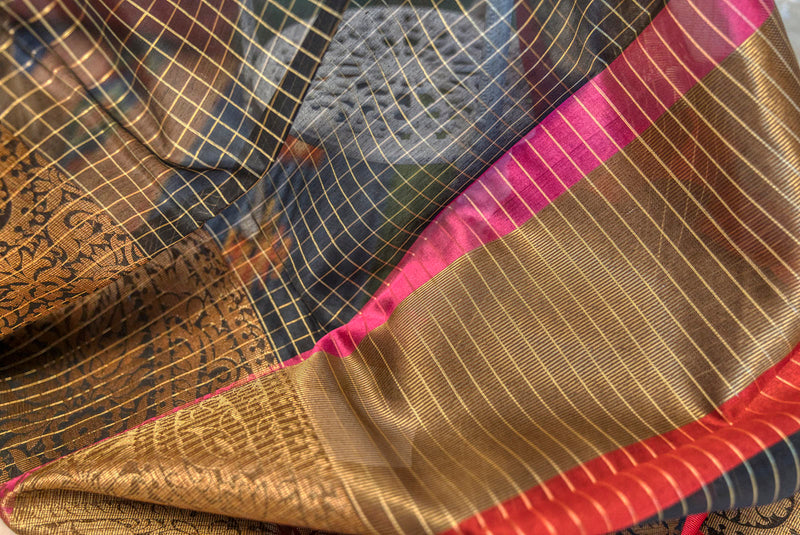 Maheshwari Cotton Saree - Indianloom