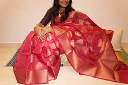 Kora Organza Silk Saree - Indianloom