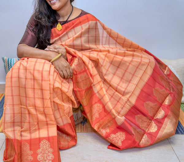 Cotton Silk Saree - Indianloom