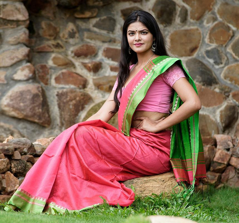 Handloom Silk Cotton Saree - Indianloom