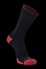 M2O Merino Wool Crew Compression Sock - Black/Red - M2O Industries