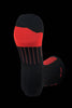 M2O Ride Fast Crew Plus Compression Sock - Black/Red - M2O Industries