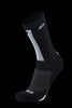 M2O Ride Fast Crew Plus Compression Sock - Black/White - M2O Industries