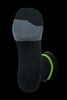 M2O Just Send It Crew Plus Compression Socks - Black / Green - M2O Industries