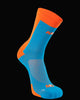 M2O Shield 3/4 Cycling And Sports Compression Sock - Blue/Orange