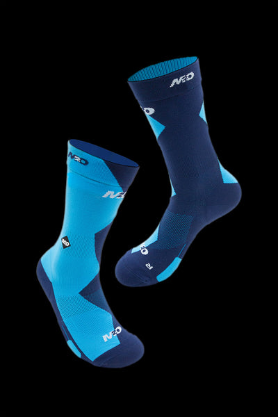 M2O Endurance 5050 Crew Plus Compression Sock- Blue/Blue - M2O Industries