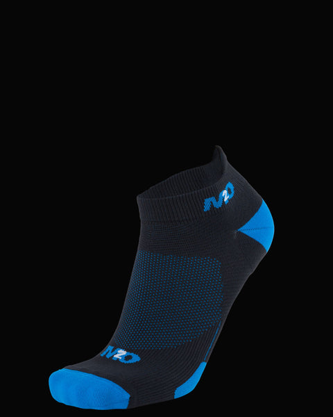 M2O Ankle  Sports Compression Sock - Black/Cyan - M2O Industries
