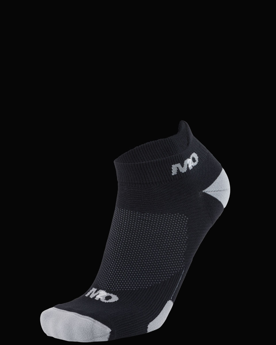 M2O Ankle  Sports Compression Sock - Black/Grey - M2O Industries