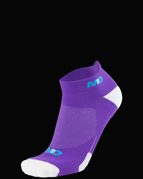 M2O Ankle  Sports Compression Sock - Purple/White
