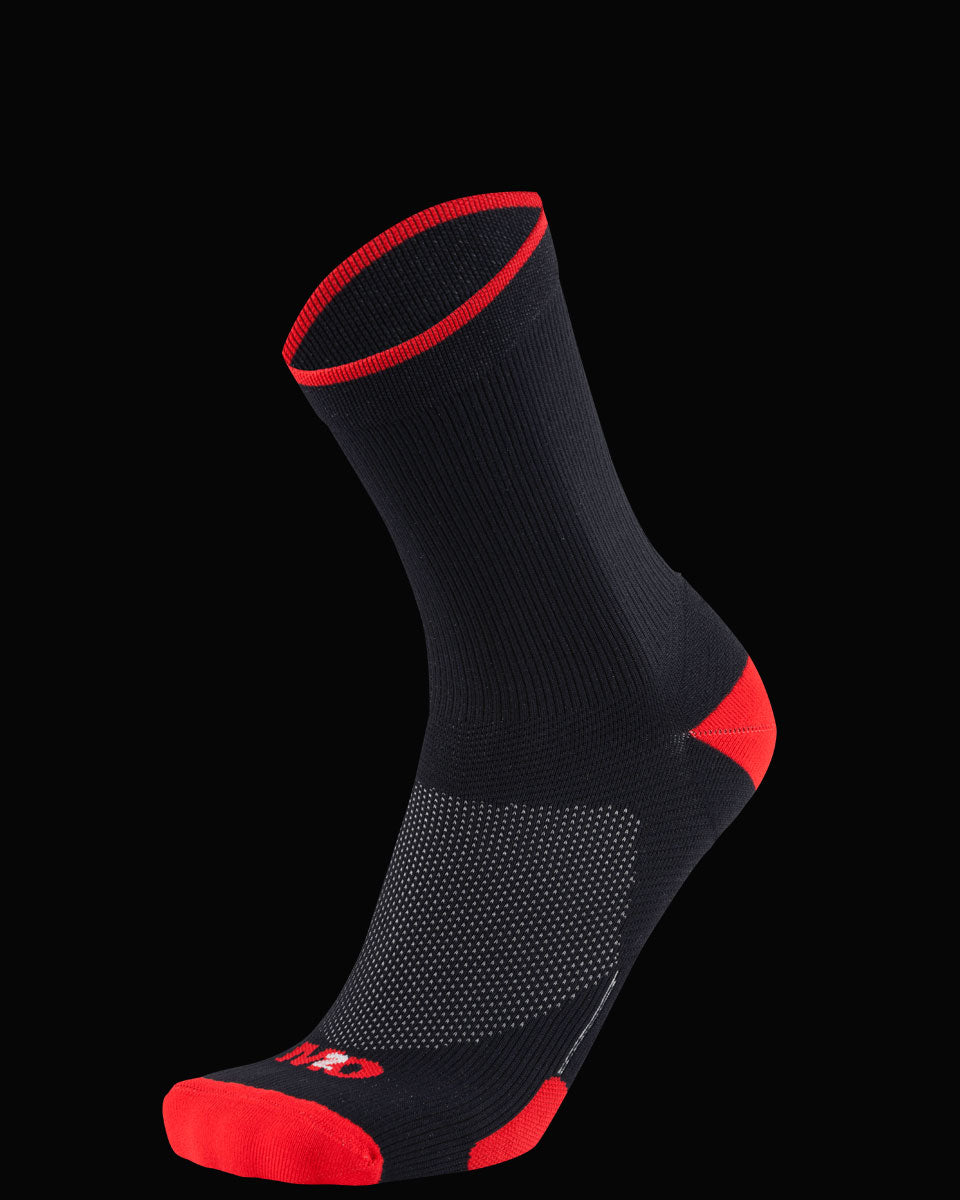 M2O Band Crew Compression Sock - Black/Red - M2O Industries
