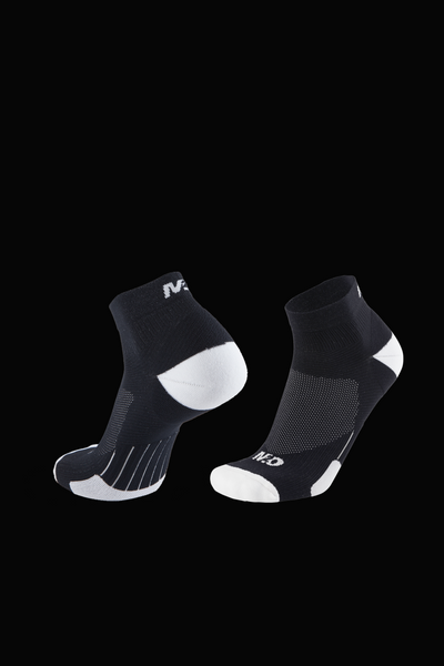M2O 1/4 Crew Compression Sock - Black/White - M2O Industries