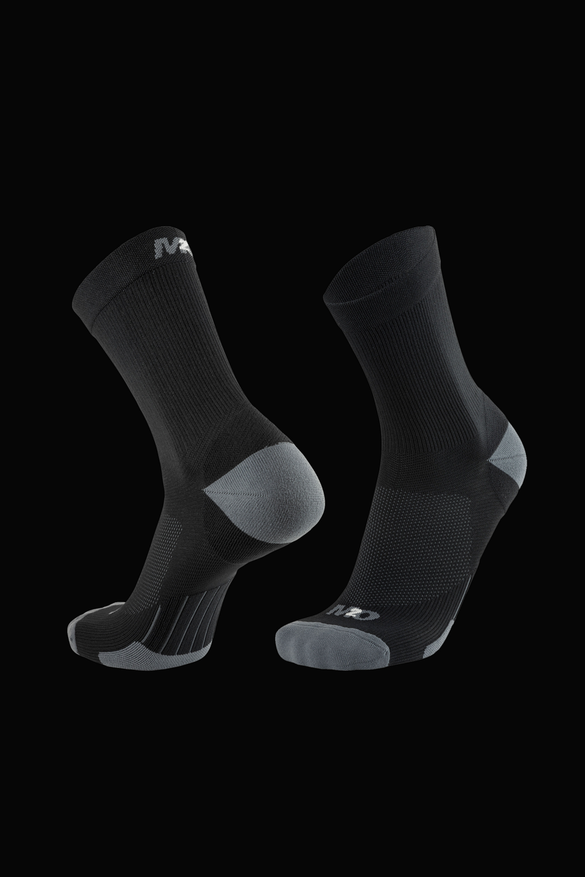 M2O Stealth Crew Compression Sock - Black/Grey - M2O Industries