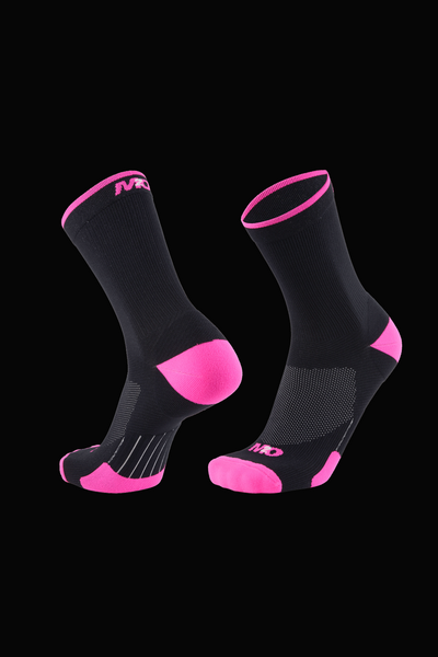 M2O Band Crew Compression Sock - Black/Pink - M2O Industries