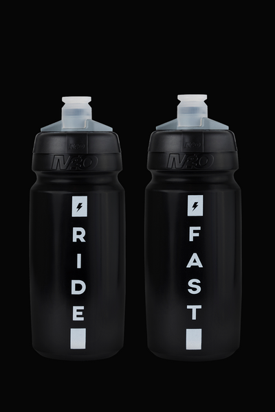 M2O Ride Fast Water Bottle, 620ml, Black/White - M2O Industries