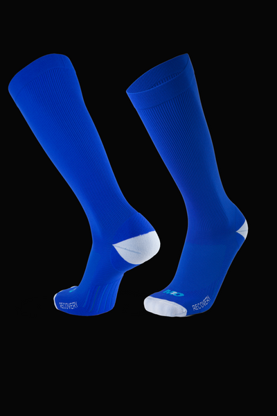 M2O Recovery Compression Sock - Blue/White - M2O Industries