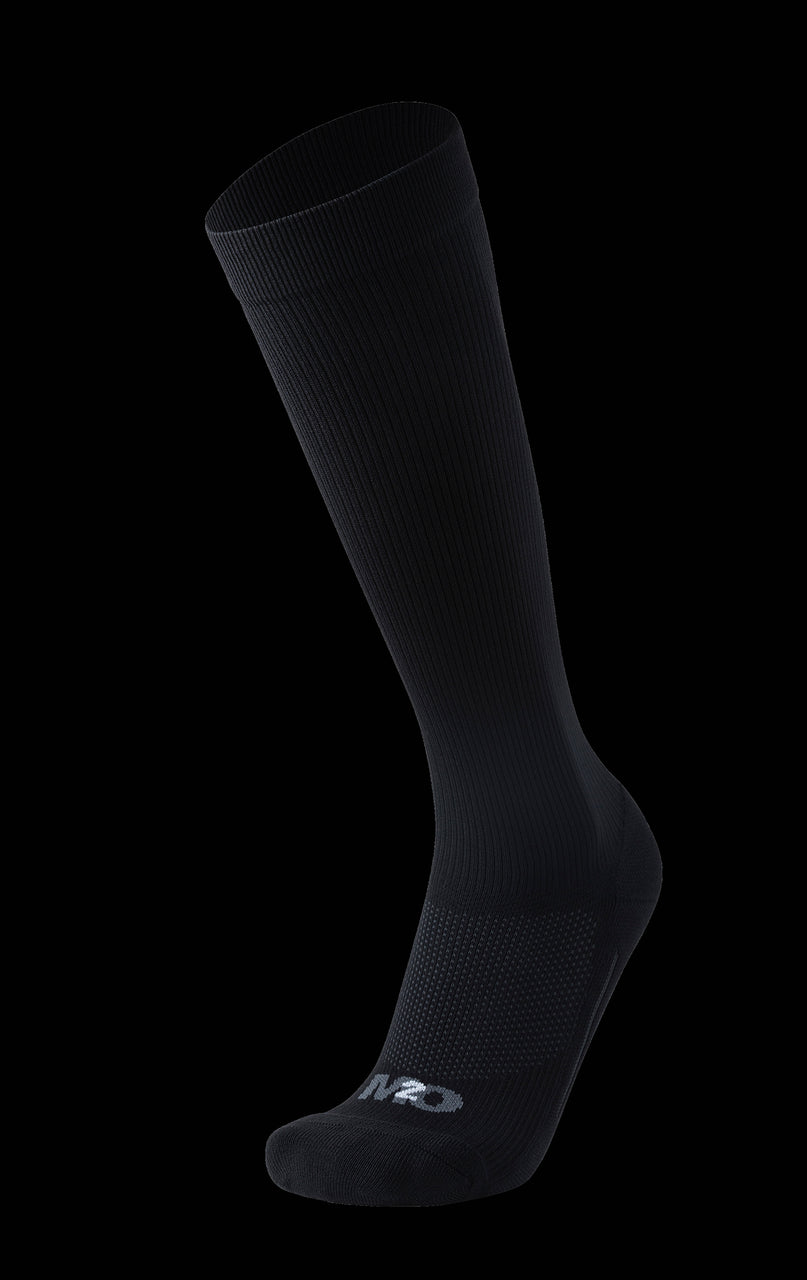 M2O Everyday Knee High Compression Sock - Black - M2O Industries