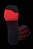 M2O Bolt Crew Plus Compression Socks - Black/Red - M2O Industries