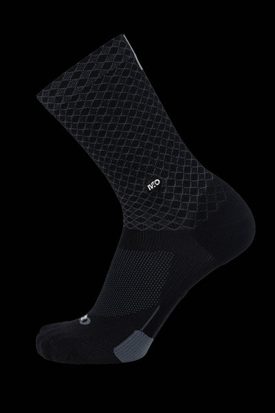 M2O Diamond Crew Plus Sock Black Inc Reflective Strip - M2O Industries