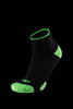 M2O Merino Wool 1/4 Crew Compression Sock - Black/Green - M2O Industries