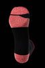 M2O Merino Wool 1/4 Crew Compression Sock - Black/Red - M2O Industries
