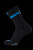 M2O No Mercy Crew Plus Compression Socks - Black / Blue - M2O Industries