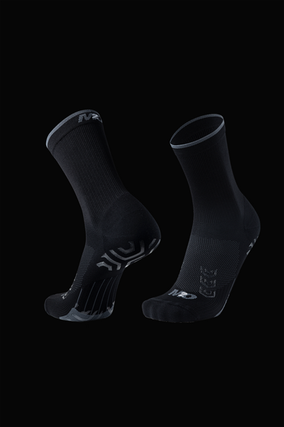 M2O ProGrip Crew Plus Compression Sock - Black/Grey - M2O Industries