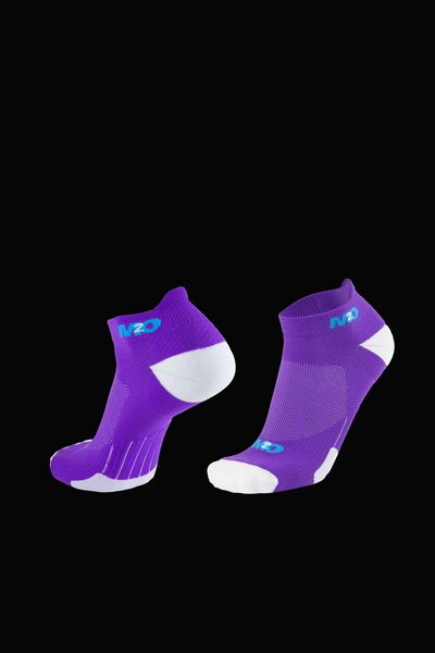 M2O Ankle  Sports Compression Sock - Purple/White - M2O Industries