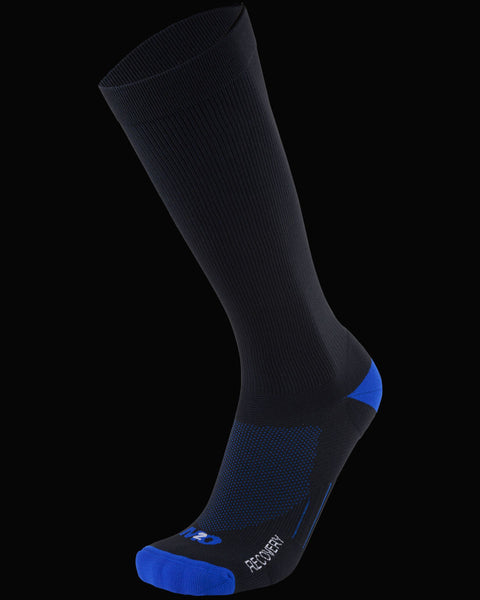 M2O Recovery Compression Sock - Black/Blue - M2O Industries
