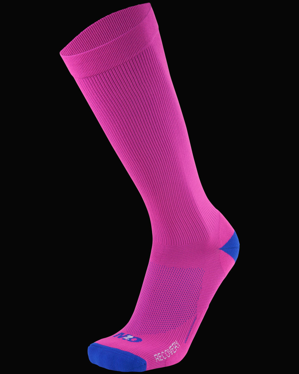 M2O Recovery Compression Sock - Pink/Blue - M2O Industries