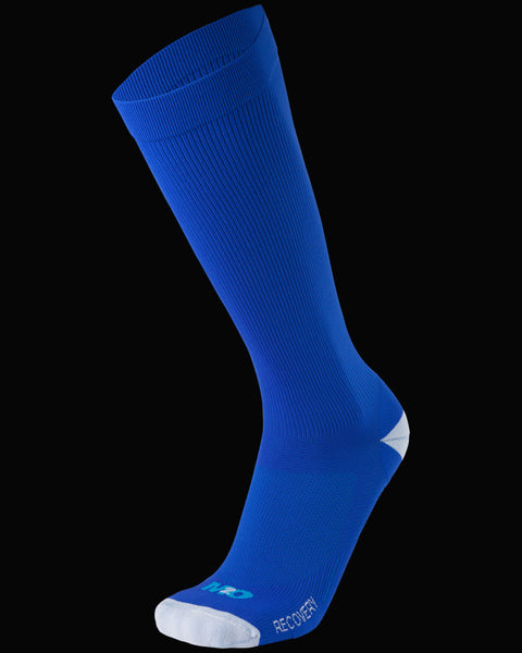 M2O Recovery Compression Sock - Blue/White