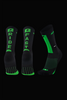 M2O Ride Fast Crew Plus Compression Sock - Black/Green - M2O Industries