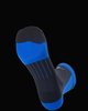 M2O Shield Crew Compression Sock -  Black/Blue - M2O Industries