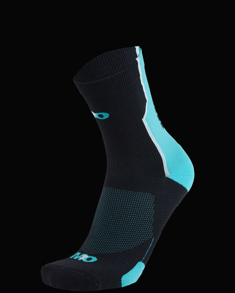 M2O Shift Crew Compression Sock - Black/Blue - M2O Industries