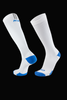 M2O Run Knee High Compression Sock - White/Blue - M2O Industries