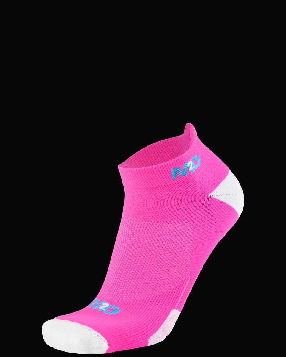 M2O Ankle  Sports Compression Sock - Pink/White - M2O Industries