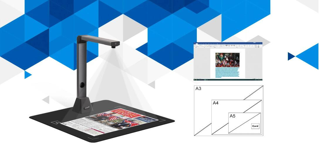 OCR A3 MULTI PAGE PDF DOCUMENT CAMERA SCANNER 1