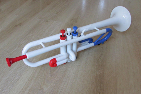 Tromba Plastic Trumpet Red White and Blue