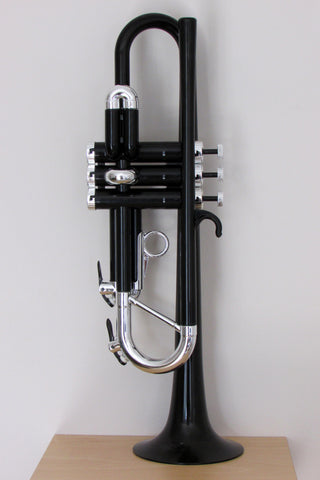 Tromba Plastic Trumpet Black and Silver
