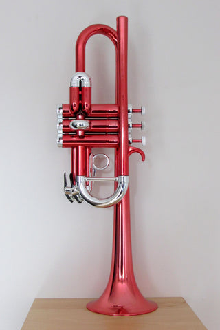 Tromba Plastic Trumpet Metallic Red and Silver