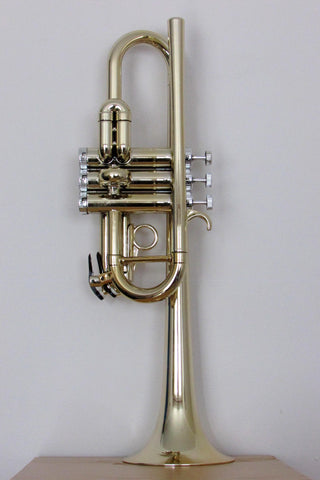 Tromba Plastic C Trumpet Gold and Silver