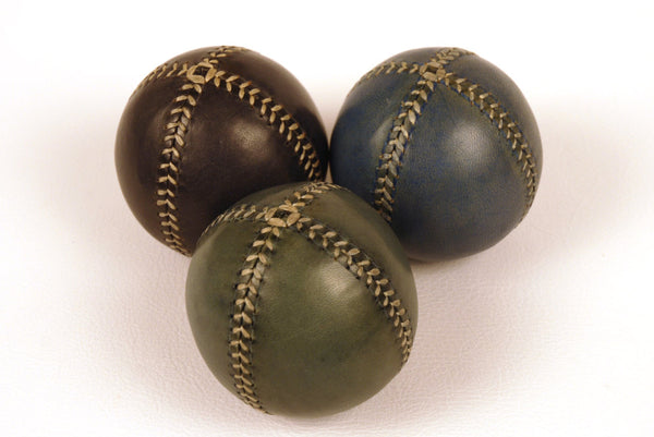 Set of 3 leather juggling balls, 75mm, Handmade Leather Balls, for Jugglers, Circus.