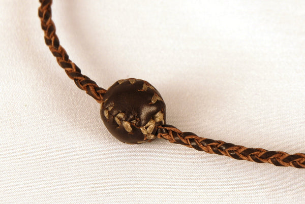 Necklace with small juggling ball for juggler. Leather necklace. Gift for jugglers. Leather jewelry.