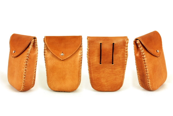 Leather Belt Bag, Small comfortable and practical bag, Belly bag. Gift for walker. 15x10x5cm.