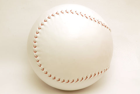 Giant handmade leather baseball, Decorative White leather baseball, Custom baseball, 25cm diam.