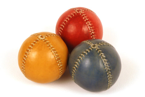 Set of 3 leather juggling balls, 75mm, Juggling Balls, Learn to Juggling, Juggler, Leather Balls